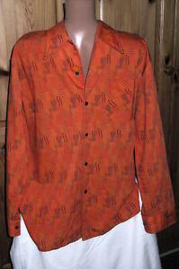NEU! Vintage 70er/80er Jahre Herren Hemd*41/42 (52/54)*Young Club*orange*langarm