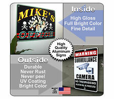 Personalized Cabin Sign Printed with YOUR NAME Full Color CUSTOM ALUMINUM SIGN
