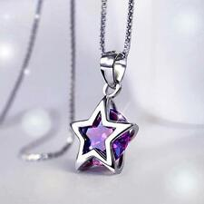 Classic fashion personality White Gold Plated jewelry Zircon necklace Pentagram