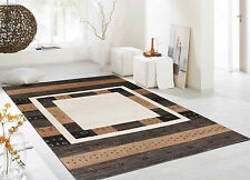 """5'4""""x7'5"""" Hand Knotted Natural Palampur Nomad Gabbeh Style Rugs & Carpet"""