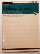 ORCHESTRA PARTS FOR CLARINET - BEETHOVEN, SCHUBERT + MORE  PRINTABLE FROM CD ROM