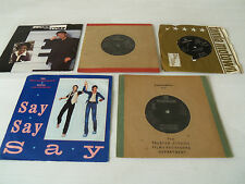 "JOB LOT OF 5 VINTAGE 7"" (45rpm) VINYL RECORDS-BEATLES/McCARTNEY"