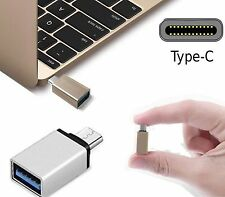 ADATTATORE OTG PER LG G5 HONOR 8 MACBOOK PRO TYPE-C USB 3.1 PLUNG AND PLAY