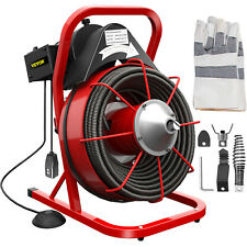 Vevor 75x38 Drain Cleaner Commercial Sewer Snake Plumbing Machine 250w