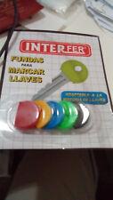 Funda Anillas de colores para marcar llaves de plastico para el llavero redondas