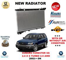 per SUBARU FORESTER SG RADIATORE 2002> ON 2.0 X S Turbo 2.5 AWD Qualità OE