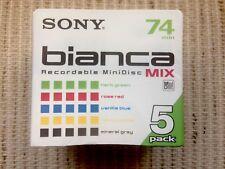 Pack de 5 MiniDisc Sony Bianca Mix de 74min. (Made in Japan)