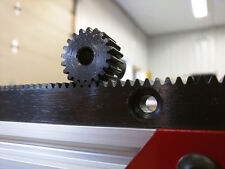"""CNC Precision Straight Rack and Pinion M1.0 - 1500mm (59"""") - 2pc Rack and Pinion"""