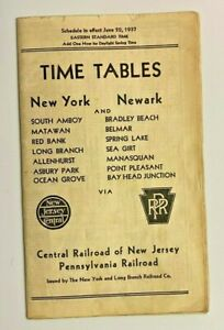 1937 NEW YORK & LONG BRANCH RAILROAD TIMETABLE
