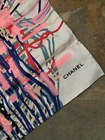 Chanel Multi Colour Silk Square Scarf BN 100% Authentic 😍