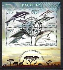 Togo 2013 Dauphins (215) Yvert n° 3120 à 3123 oblitéré used