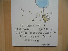 Shabby Winnie the Pooh Grand Adventure, plaque sign