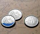 2021 Canada 100th Anniversary ofBluenoseThree (3) Coin Dime Set in Air-tite