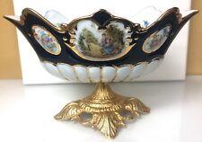 Stunning Antique Porcelain Vase with Fragonard Courting Couple