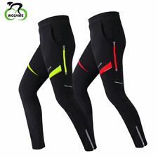 Mens Cycling Pants Reflective Zipper Stretchable Bike Sports Trousers Windproof