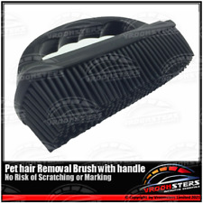 More details for pet dog hair carpet removal brush flexible rubber for car seats fabric interior
