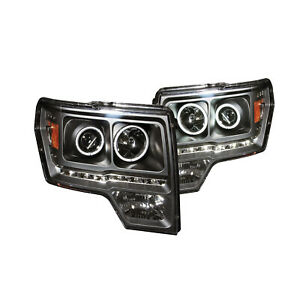 ANZO for FORD F-150 09-14 PROJECTOR HEADLIGHTS G2 HALO LED BLACK (CCFL) 111298