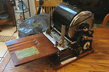 Antique Rotary A.B. Dick Mimeograph Duplicating Printing Machine No 77 Model A S