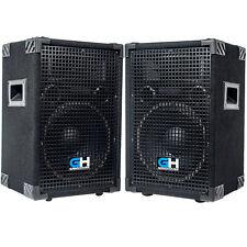 1200w Pair of 10 inch Passive PA Loud Speakers for Band DJ Karaoke Church Venue