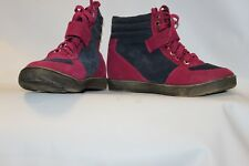 Ladies Blue & Pink High Top Trainers Size 38 Uk 5 Forever Folie Bjorn Shoes