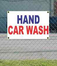 2x3 HAND CAR WASH Red White & Blue Banner Sign NEW Discount Size & Price