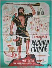 LES AVENTURES DE ROBINSON CRUSOE Affiche Cinéma ORIGINALE / Movie Poster BUNUEL
