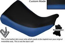 BLACK & ROYAL BLUE CUSTOM FITS SUZUKI 400 GSXR GK71F FRONT LEATHER SEAT COVER