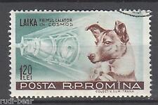 Rumänien Nr.  1684  gest.     Hündin Lejka  Erste Weltraumfahrerin