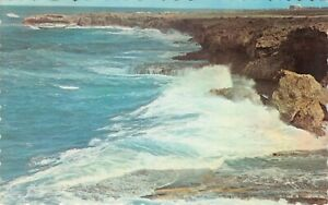Crashing Waves North Point St. Lucy Barbados West Indies Vintage Postcard C06