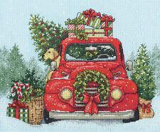Cross Stitch Kit ~ Dimensions Festive Ride Holiday Pickup Truck #70-08992