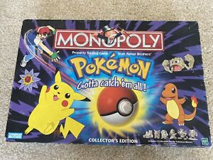 Monopoly POKEMON Collector's Edition Vintage 1999 Hasbro Pewter Missing Pieces