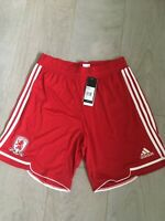BNWT & in bag - Adidas Middlesbrough FC football Red Shorts size large men's
