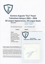 Gus Poyet Tottenham Hotspur 2001-2004 Original Corte/tarjeta firmada a mano