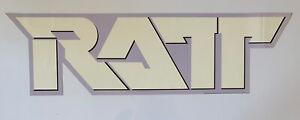 "Original RATT Die Cut Promotional Rock Sign Store Display logo 30"" x 8.5"" purple"