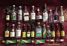 très rare lot anciennes mignonnettes  mini bouteilles collection