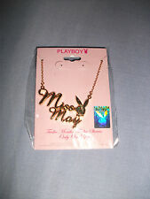 BNIP Playboy May Necklace With Birth Stone & Pouch