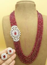 Indian Bollywood Gold Plated Kundan Necklace Bridal Wedding CZ AD Jewelry Sets