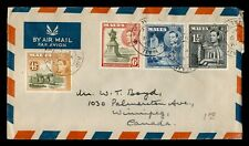 DR WHO 1948 MALTA AIRMAIL TO CANADA C228077