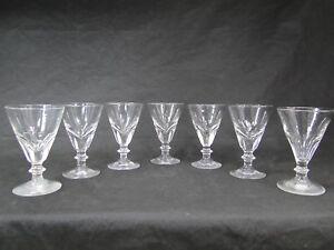 SUPERBE SERIE DE 7 VERRES BISTROT TAILLES XIXème ANTIQUE 19thC. GLASSES Ca. 1840
