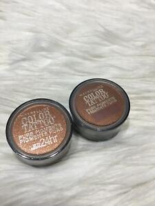 2 Maybelline Color Tattoo Pure Pigments Eye Shadow #40 Improper copper Bs08