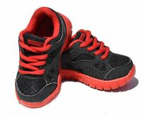 New Baby Infant Toddler Boy Girls Laces Tennis Casual Black Shoes Size 4 to 9