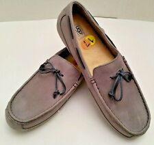 UGG Australia Chester Leather Moc Loafers Boat Shoes Big Foot Size 17 US Gray