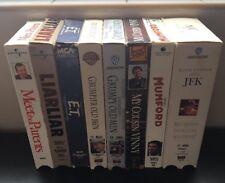 Lot of 8 80's 90's VHS Movies ET, Grumpy Old Men, My Cousin Vinny, JFK Liar Liar