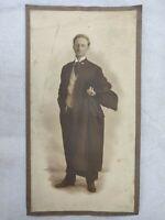 "Vintage Black and White Photo of Elegant Man w/ Reading Glasses Posing 4""x7"""