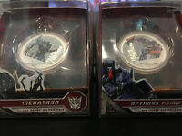 RARE!!! Transformers SILVER 2 Coin Set  Optimus & Megatron Perth Mint 99.9% Pure