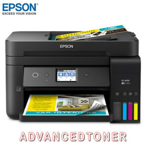 Epson Workforce EcoTank  ET-4750 Wi-Fi M/F Refillable Inkjet Printer + Warranty