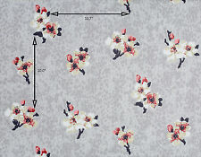 Vintage Wallpaper Leopard Grey Background Floral Pink and White Blossoms