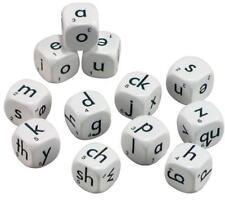 Lower Case Alphabet Dice 12 pieces 22mm Teacher Resources Language Literacy