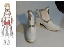 Sword Art Online Asuna Yuuki Cosplay Costume Boots Boot Shoes Shoe UK
