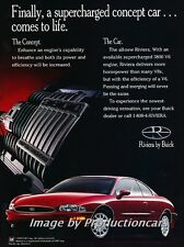 1995 1996 Buick Riviera Original Advertisement Print Art Car Ad J676